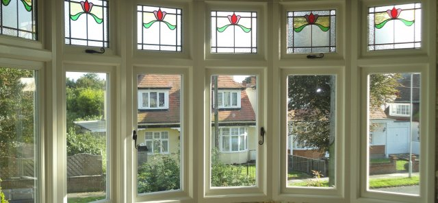 Bespoke Stain Glass Casement